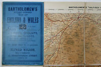 1911 Old Vintage Bartholomew's Reduced Ordnance half-inch Map 36 South Devon