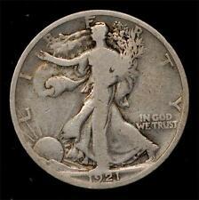1921-D Walking Liberty Half:  VG, full rims, good color