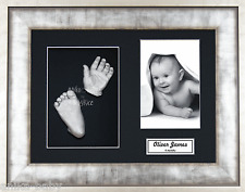 New Baby Casting Kit Unique Gift Silver Hands Feet Cast Urban Metal 3D Box Frame
