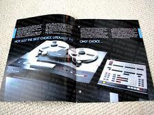 MAKE OFFER - Mitsubishi X-850 multitrack digital reel to reel deck brochure