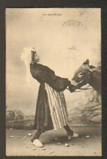 ANE entété & FEMME costumée en 1913