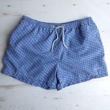 HACKETT London Swim Shorts Beach Blue White Floral Size XL