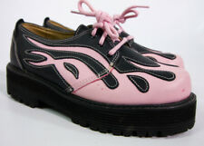 Vintage Tribal Flame Women's Shoes Size 6 Pink 90's Punk Cyber Goth Industrial