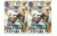 TWO (2) CHARLES WOODSON (Oakland) 1999 COLLECTOR'S EDGE 1ST PLACE ROOKIES #227