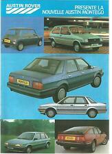 Catalogue brochure Katalog Prospekt AUSTIN ROVER GAMME Année 1985 14 Pages