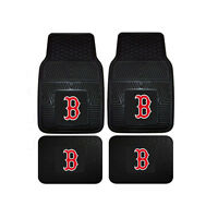 New MLB Boston Red Sox Car Truck Front Back Rubber All Weather Floor Mats
