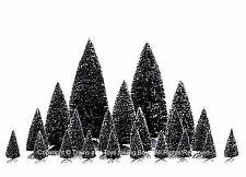 Lemax 34968 PINE TREE SET 21 ASSORTED Christmas Village Snowy Trees Decor S HO I