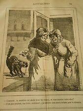 Typo 19èm - La Muselière est abolie pour les chiens mais pas pour les chats