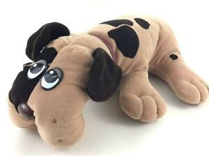 "Tonka Pound Puppies Vintage 1985 Plush 17"" Stuffed Animal Toy Brown Spotted Dog"