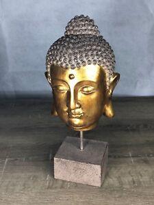 Buddha Head on Stand Home Decor Collectors Decoration Ornament Unique Item NEW!!
