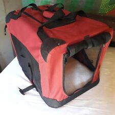 Portable Pet Carrier Soft Fabric Folding Cage Dog Cat Puppy Travel Crate Bag Box