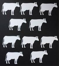 10 Cow shaped Gift Tags/labels