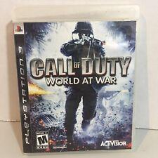 Call of Duty: World At War - Sony PlayStation 3 PS3 - CoD 5 WaW - Free Shipping!