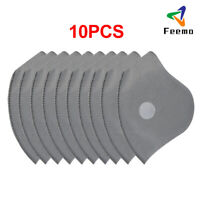 New PM2.5 Replacement Filters Activated Carbon Filter Pad For Face Cover 10PCS