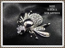 Hermoso Broche Plata Rhinestone Miel Abeja, inusual, idea de regalo, insectos, volar, Avispa
