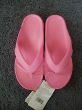 Girls Light Pink Crocs Flip-Flops. Size J2. Iconic Comfort. Nwt.