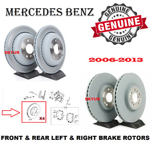 Mercedes Front & Rear 4 Disc Brake Rotors GL ML R 320 350 450 500 550 Genuine