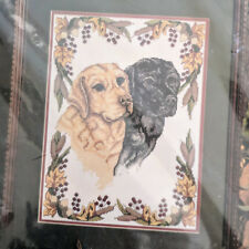 GOLD BLACK LABS Golden Bee Counted Cross Stitch labrador puppy dog 60517 SEALED