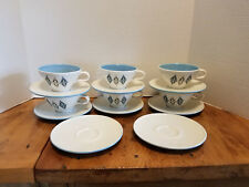 14 Iroquois Blue Diamonds Ben Seibel Informal Mid Century Modern Cups & Saucers