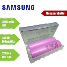 2x Samsung INR18650-35E Akku 3500mAh 3,7V inkl Schutzbox Li-Ionen 18650 Lithium