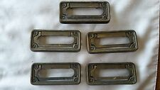 Lot of 5 rectangular drawer pull handles