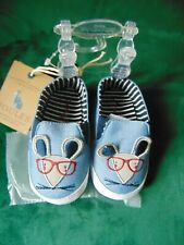 Joules Blue Pram shoes Mouse Shoes age 12-18 months NEW