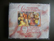 """COFFRET 3 CD INOUBLIABLES CHEFS-D'OEUVRE """"Joyeuses ouvertures d'Opérettes"""" Neuf"""