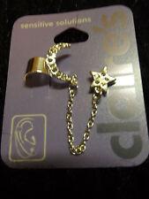 moon and star ear cuff earring new silver tone dangle fashion jewelry trendy
