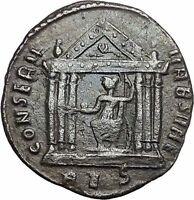 Maxentius Constantine the Great Enemy Ancient Roman Coin Temple of Roma i49138