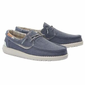 Hey Dude Men's Welsh Chambray Sea Blue Shoes 112222140