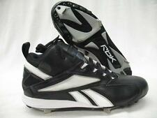 New Reebok 18-155687 Vero Trade Metal Mid Baseball Shoes Cleats Black Mens 8.5