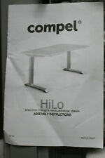 Compel HiLo Height Adjustable Desk 2 Leg Conversion Kit Silver Lh Open Other