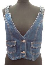 Bnwt Chickster-fifi- Size 12 Denim Waistcoat