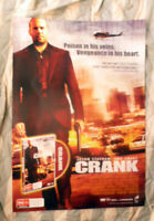 CRANK JASON STATHAM 1 SHEET DVD MOVIE POSTER