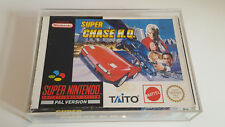 Super Chase HQ PAL in Acrylglasbox Super Nintendo Snes original