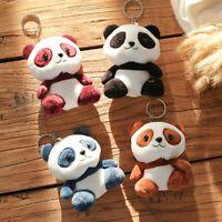 Cute Panda Stuffed Doll Key Chain Bag Pendant Plush Toy Kids Gift Car Pendant,