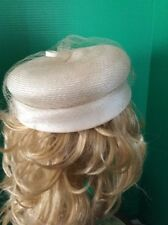 "VINTAGE "" Hudson's Salon ""  Style Hat- Beige with netting"