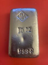 Johnson Matthey 10 oz Silver Bar W/ Small JM Logo On Top, Excellent Condition !!
