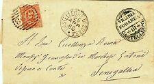 Z20173-MARCHE, CASTELLEONE DI SUASA, NUMERALE A SBARRE PER SENIGALLIA, 1880