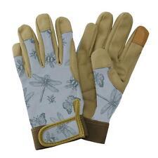 Kent & Stowe Ladies Premium Comfort Gardening Gloves Planting Flutter Bugs Blue