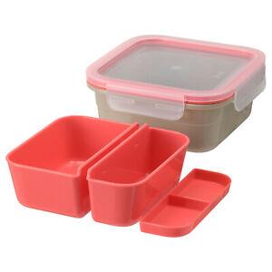 IKEA 365 Lunchbox mit Einsätzen Frühstücksbox Brotdose Essensbehälter Essensbox