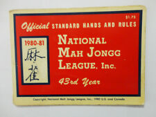 1980-81 Vintage Official National Mah Jong League Hands Rules Card Mah Jong Set