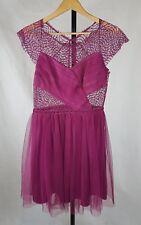Asos size UK 10 purple mini prom dress lace tulle tutu