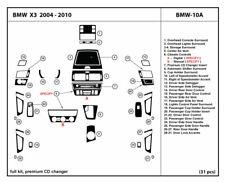 Carbon Fiber Dash Trim Kit Set for BMW X3 2004-2010 Interior Overlay Dashboard