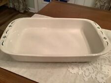 New ListingLongaberger Pottery Woven Traditions Green 9 X 13 Baking Dish Casserole Usa