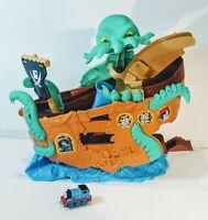 Mattel Thomas & Friends Adventures Sea Monster Pirate Ship Boat Playset