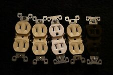 5 new electric outlet duplex receptacle plug ins 3 colors ivory white and brown