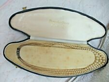 VINTAGE POMPADOUR PEARLS in original box - 3 Strand with Silver Marcasite Catch