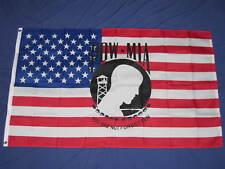 3X5 POW MIA ON AN AMERICAN FLAG USA VIETNAM VET Grommets