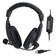 COMPUTER-HEADSET FÜR USB ANSCHLUSS USB-HEADSET W. MICROFONE GAMER HEADPHONES